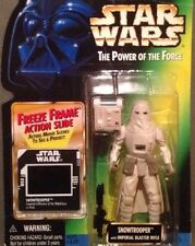 1997 RARE Star Wars POTF Freeze Frame Movie Cell Snowtrooper & Case⭐️VGC⭐️
