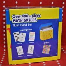 Math SKILLS Flash CARD Set 400 PC Learning CARDS Stickers Add Subtract Count