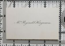 Antique Calling Card Mme Reginald Hargreaves