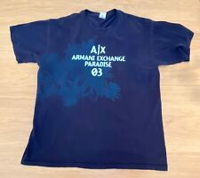 Armani Exchange Men's Blue Logo T-shirt