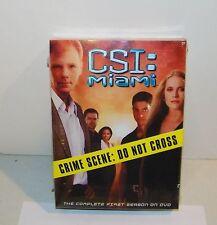 CSI: Miami - The Complete First Season One 1 (DVD, 2004, 7-Disc Box Set) NEW