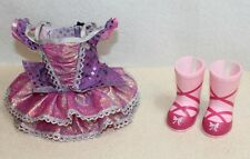 American Girl Wellie Wishers Doll Ballet Dress & Emerson Pink Boots