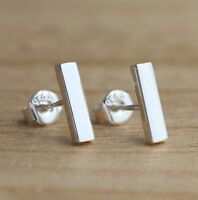 925 Sterling Silver Bar Stick Stud Earrings Plain Stylish Earrings Jewellery