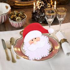 Natale Babbo Articoli per la Tavola Custodia Tasca Festa Casa Posate Borsa