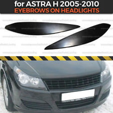 Eyelids Eyebrows Headlights Covers for Vauxhall Opel Astra H 2005- plastic ABS