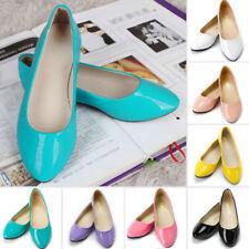 Women Flat Pumps Ladies Glitter Ballet Ballerina Dolly Bridal Plain Casual Shoes