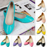 Women Ballet Ballerina Flat Pumps Glitter Ladies Slip On Dolly Shoes Size Casual