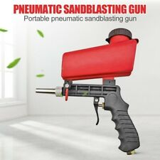 90psi Gravity Sandblasting Gun Pneumatic Sandblaster Spray Gun Blasting Machine