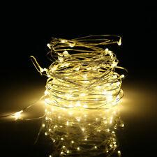 10M 100LED Lichterkette Drahtlichterkette Außen Innen Beleuchtung +Fernbedienung