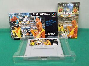 SNES -- WWF SUPER WRESTLE MANIA -- Boxed. Super famicom. Japan Game. 12626