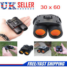 30 x 60 Compact Foldable Binoculars Roof Prism Pocket With Carry Case Camping UK