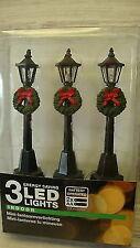 3 LED Laternen-- Modellbau--Straßenlaternen mit Kranz--für Weihnachtsdorf--Deko