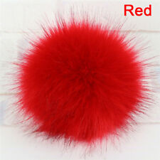 d40d9611c7e 1x Faux Fox Fur PomPom with Press Fake Fur Hat Bubble Removable ButtonRASK