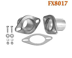"""FX8017 2 1/2"""" OD Universal QuickFix Exhaust Oval Flange Repair Pipe Kit Gasket"""