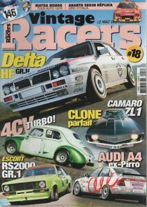VINTAGE RACERS 18 ABARTH 750 RECORD DELTA HF INTEGRALE MATRA MS 650 RE 4CV 200CH
