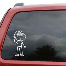 """Forever Alone Family Guy Meme Car Window Vinyl Decal Sticker- 6"""" Tall White"""
