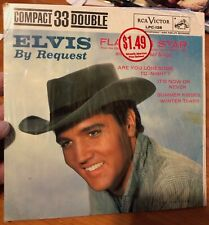 """ELVIS PRESLEY ~ """"ELVIS BY REQUEST"""" ~ Compact 33 Double ~ NM ~ Still in Shrink"""
