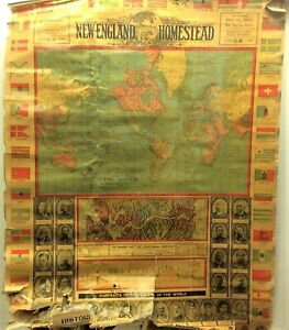 New England Homestead Architectural Journal Map World Series Mercators 1905