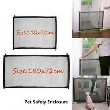 Retractable Pet Dog Gate Safety Guard Folding Baby Toddler Stair Isolation AU