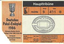 Ticket / Eintrittskarte DFB Pokalfinale 1986 FC Bayern München - VFB Stuttgart