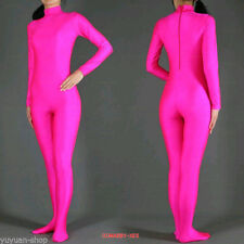 Hot Pink/Black Zentai Lycra Catsuit full boby catsuit S-XXL