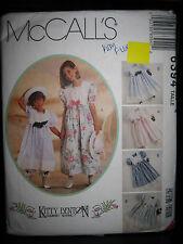 Vintage McCall's Kitty Benton Gourmet Sewing 6394 Girls Dress Pattern - Size 4