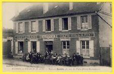 cpa ROISSY en FRANCE (Val d' Oise) CAFÉ RESTAURANT Maison DAVID Rue de Paris
