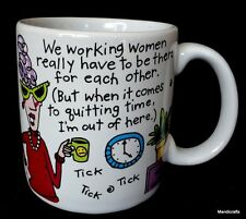 Coffee Mug Carlton Cards Working Women Be There But Quitting Time Out Fun Gift