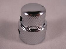 GUITAR FUEL KB-2 CHROME Volume Tone Concentric Stacked Control Knob Guitar Bass