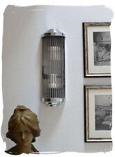 Wandleuchte BAUHAUS Lampe ART DECO WANDLAMPE KINOLEUCHTE GLASSTÄBE CHROM