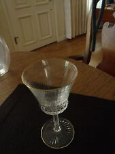 "ST LOUIS CRYSTAL APOLLO GOLD 6 1/4"" BURGUNDY WINE GLASSES 12 SOLD INDIVIDUALLY"