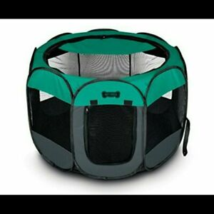 Ruff & Ruffus Portable Pet Playpen Zippered Half Mesh Removeable Top for Shade M