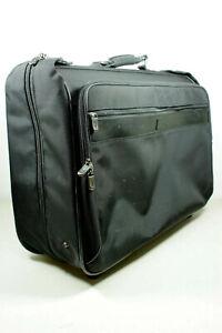 HARTMANN Wheeled Mobile Suitcase Traveler Garment Suit Clothing Black Leather