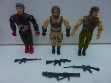 JOUET 3 FIGURINES LOT KAIDO BIKIN ADVENTURE MAN NO GI JOE ACCESSOIRES VINTAGE