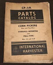 Vtg original Farmall-Mounted Corn Pickers Cp-3A Parts Catalog Ih International