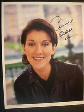 Celine Dion -c1985 Hand-Signed Autograph 8x10 Photo First Fan Club + 2nd Photo