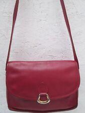 Authentique sac à main  LE TANNEUR cuir vintage bag /