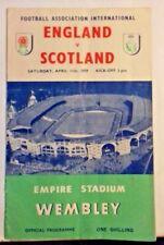 More details for england v scotland match programme + songsheet 11/4/1959 wembley stadium.