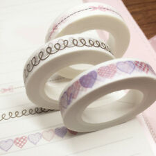 Practical 1Roll White Lace Sticky Tape Sticker Trim Label Scrapbooking Paper DIY