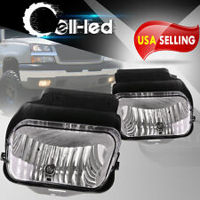 Clear Fog Lights Front Bumper Lamps + Bulbs for 03-06 Chevy Silverado Avalanche