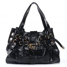 5894b5564e Pre-owned Jimmy Choo Ramona Bag Black Crushed Leather Large Shoulder Bag   2150.