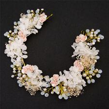 New Handmade Luxury Wedding Hair Jewelry Bridal Flower Hair Accessory Pearl Bead