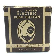 "Vintage Trine Keil 2 1/4"" Round Electric Victor Sr Push Button Doorbell BOX ONLY"
