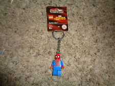 LEGO SUPER HEROES SPIDERMAN KEY CHAIN, NWT, CAN DISCONNECT &USE AS FIGURE 850507