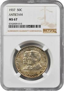 1937 Antietam Commemorative Half MS-67 NGC Certified