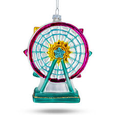 Ferris Wheel Mouth Blown Glass Christmas Ornament