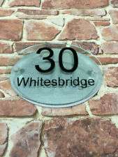 Handmade House Name Oval Decorative Plaques & Signs