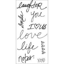 Fiskars ~ HANDWRITTEN STAMPS ~ Clear Stamp Set Laughter Love Life Notes XOXO