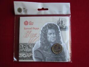 2019 Samuel Pepys 350th Anniversary UK £2 Brilliant Uncirculated Coin BUNC