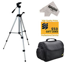 Tripod & Case Kit for Canon EOS 70D 60D T5i T5 T4i T3i T3 SL1 Digital Camera